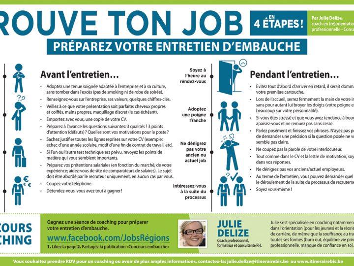 Trouve ton job en 4 étapes